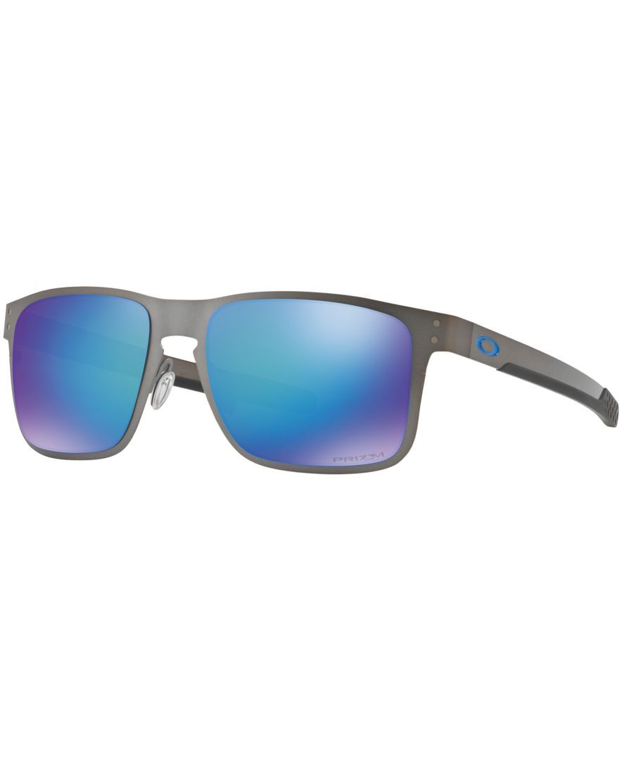 Oakley Polarized Holbrook Metal Prizm Sapphire Sunglasses, OO4123 55 ...