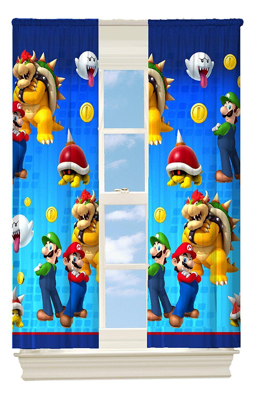 Super Mario Vorhänge für das Kinderzimmer | Super Mario ...