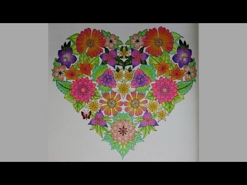 HOW I COLOR FLOWER HEART