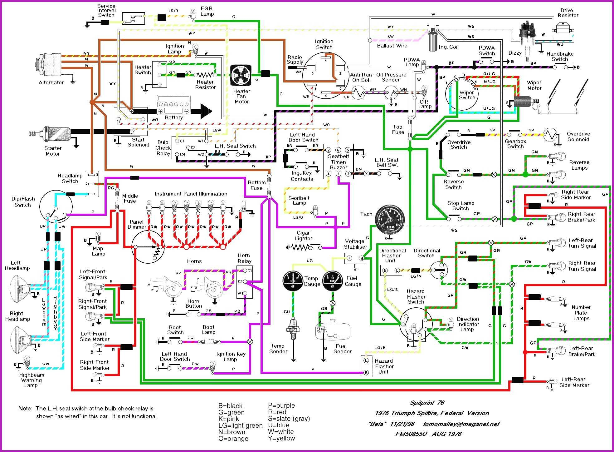 2001 triumph wiring diagram wiring diagram posttriumph thunderbird wiring diagram 2 [ 1968 x 1447 Pixel ]