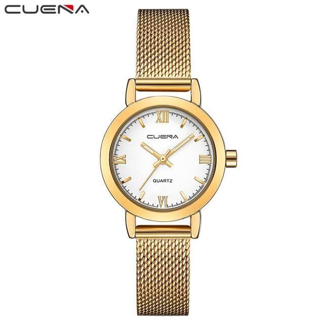 2c6f12c6b7d CUENA Women Watches Waterproof Quartz Wristwatch Gold Luxury Fashion  Relogio Feminino Montre Femme Ladys Watch for