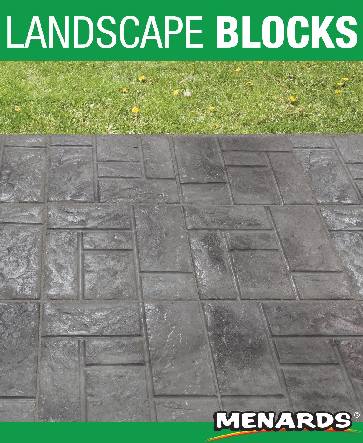 This wetcast ashlar patio block has a graceful style that ... on Life Outdoor Living Block id=84870