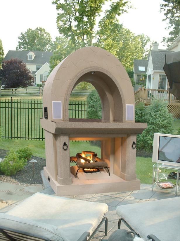 Fireplaces Warm Up Patios, Outdoor Rooms   Outdoor Design - Landscaping Ideas, Porches, Decks, & Patios   HGTV
