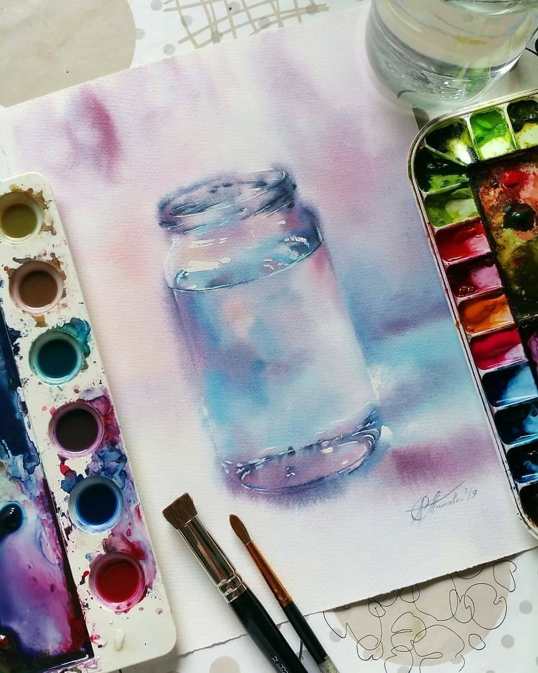 Watercolor Arts On Instagram Realistic Watercolor Art Double