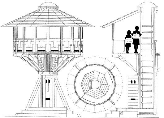 Technical Drawing Treehouse Plans Tree House Plans Tree House Designs Tree House