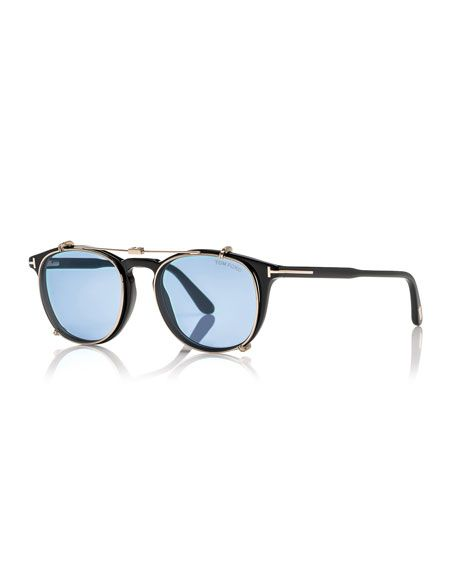Tom Ford round sunglasses. Acetate frames with metal wiring around lenses. Blue…