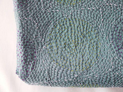 シルクの刺し子ショール カンタ   Sashiko embroidery   Pinterest   Diy ...