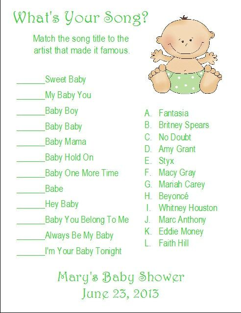 whats your song baby shower game google search music baby showers baby shower games