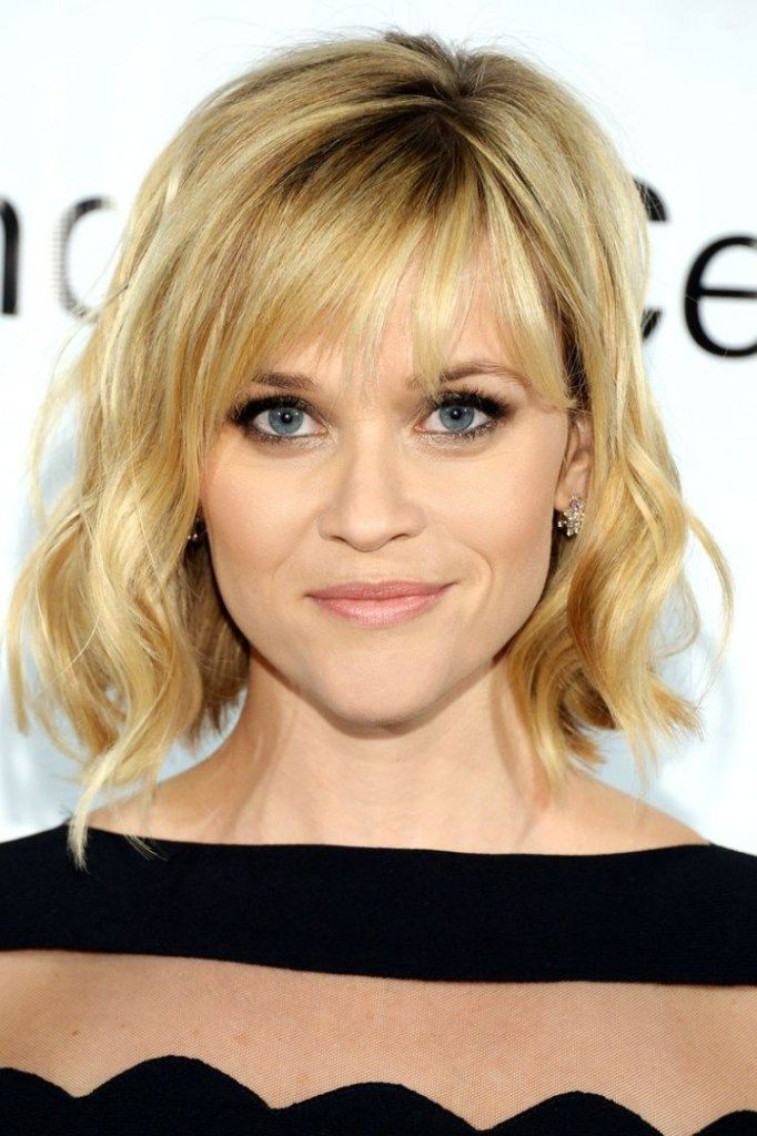 Reese Witherspoon A Line Bob And Bangs Hairstyles Pinterest