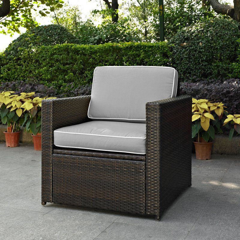 crosley furniture palm harbor all weather wicker outdoor arm chair rh pinterest ca