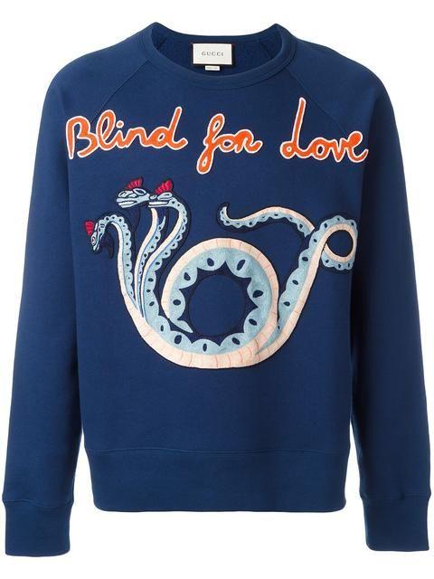 be0b69f7b GUCCI Blind For Love sweatshirt. #gucci #cloth #sweatshirt | Gucci ...