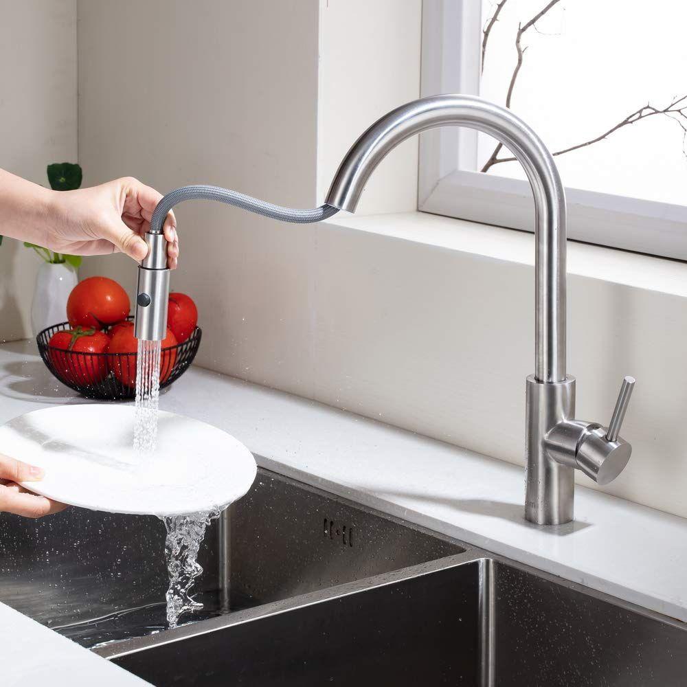 Umi Essentials 360 Drehbar Armatur Kuche Ausziehbar Wasserhahn