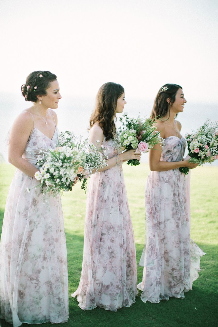 Fall outdoor wedding dresses  Floral Inspired Spring Wedding Looks  Bridesmaid Style  Pinterest
