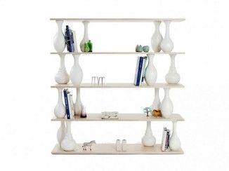 open double sided bookcase vase shelves covo furniture rh pinterest ca