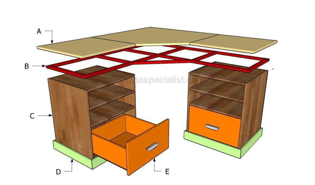 how to build a corner desk home deco desk diy desk diy rh pinterest com