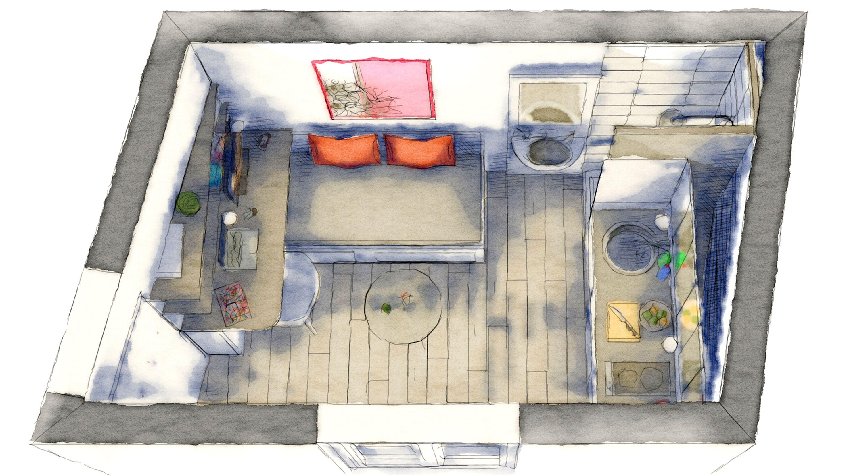 Architecte D Intérieur Lille studio 9m² ] | boddaert architecte d'interieur lille | 9m2