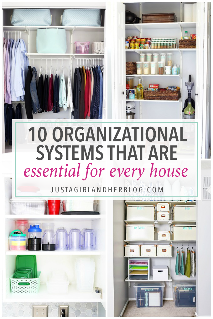 If You Want To Get Organized But Don T Know Where Start This Helpful Post Talks About 10 Essential Organizational Systems That Every Home Needs Have