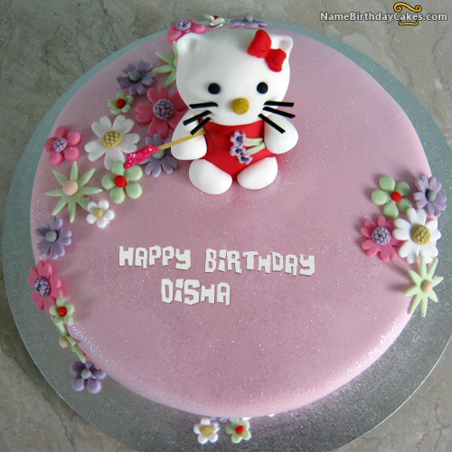 I have written disha Name on Cakes and Wishes on this