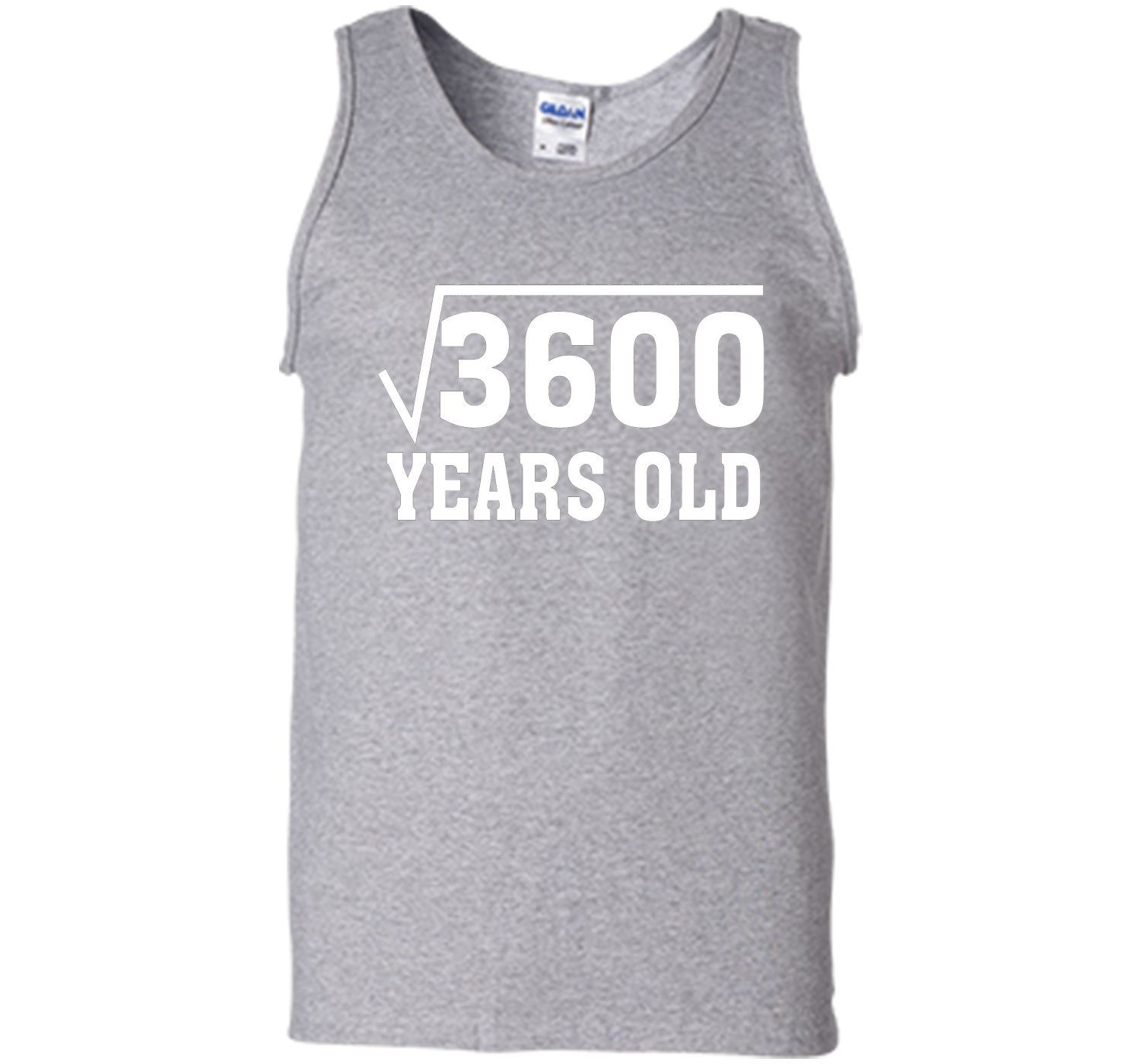 Square Root 3600 Funny 60 Years Old T Shirt 60th Birthday