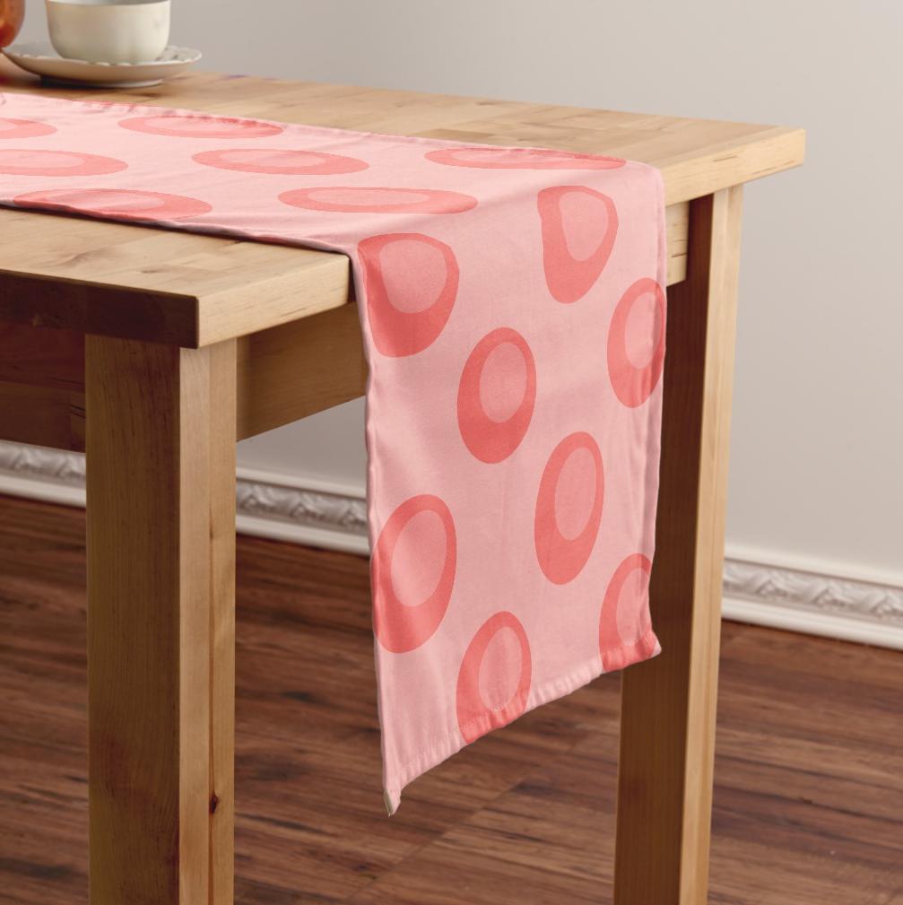 living coral trendy polka dots short table runner zazzle com in rh pinterest it