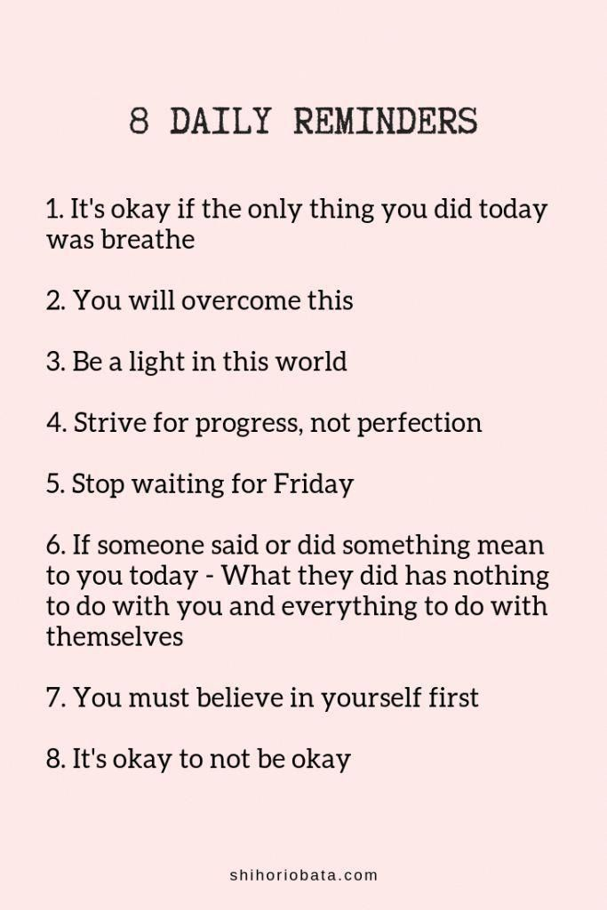 61 Simple Daily Reminders for a Happy Life