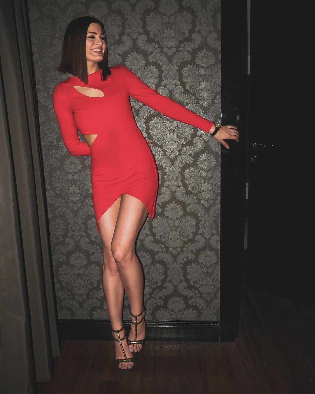 Joan et moi clothing brand sexy red dress long sleeve dress