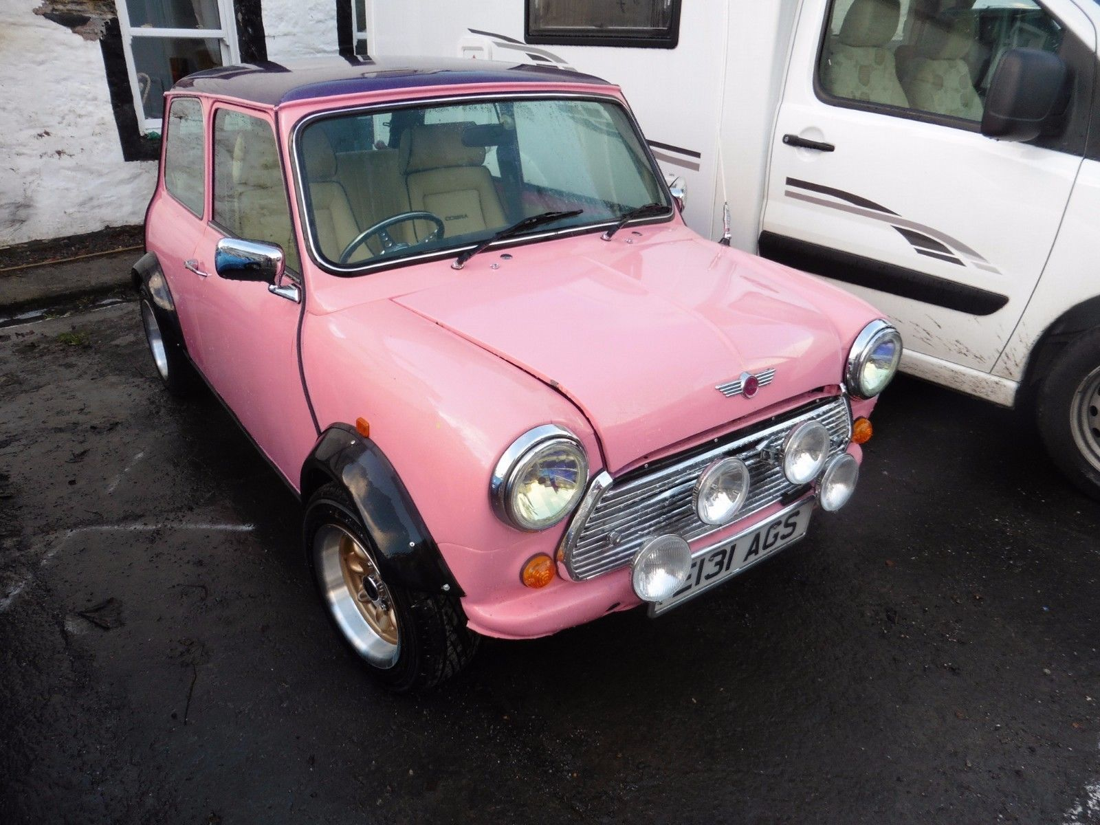 eBay: Pink Mini with rainbow flake purple roof. #classiccars #cars ...