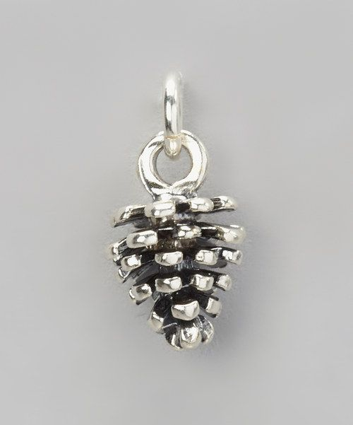 Look at this Five Little Birds by Littlefield Lane Sterling Silver Pine Cone Charm on #zulily today!