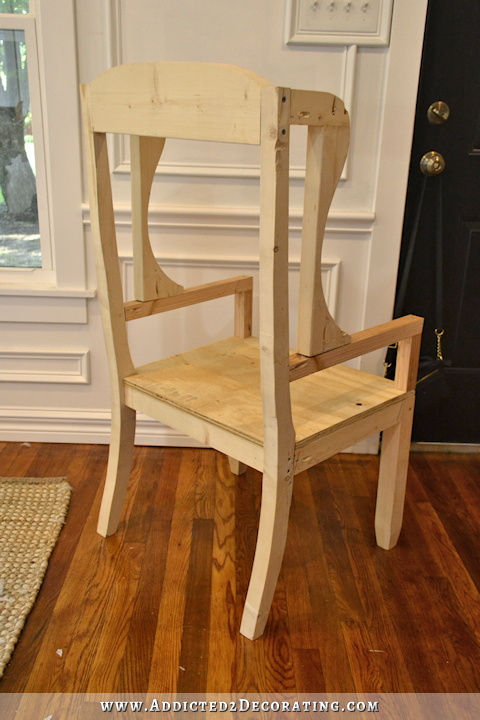 DIY Wingback Dining Chair – How To Build The Chair Frame | Pinterest ...