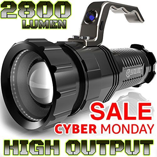 2,800 LUMENHIGH OUTPUTRECHARGEABLEZOOMABLE Floodlight to Spotlight
