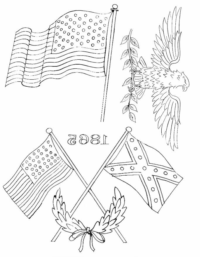 Free flag and American eagle embroidery patterns