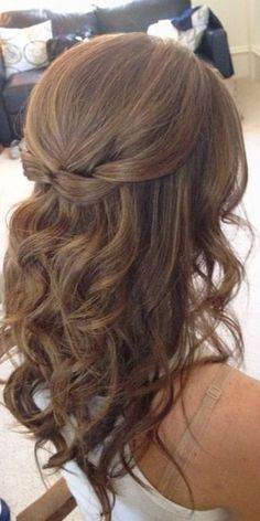 Image Result For Wedding Hair Half Up Half Down Medium Length Medium Length Curls Bridesmaid Hair Medium Length Hair Lengths