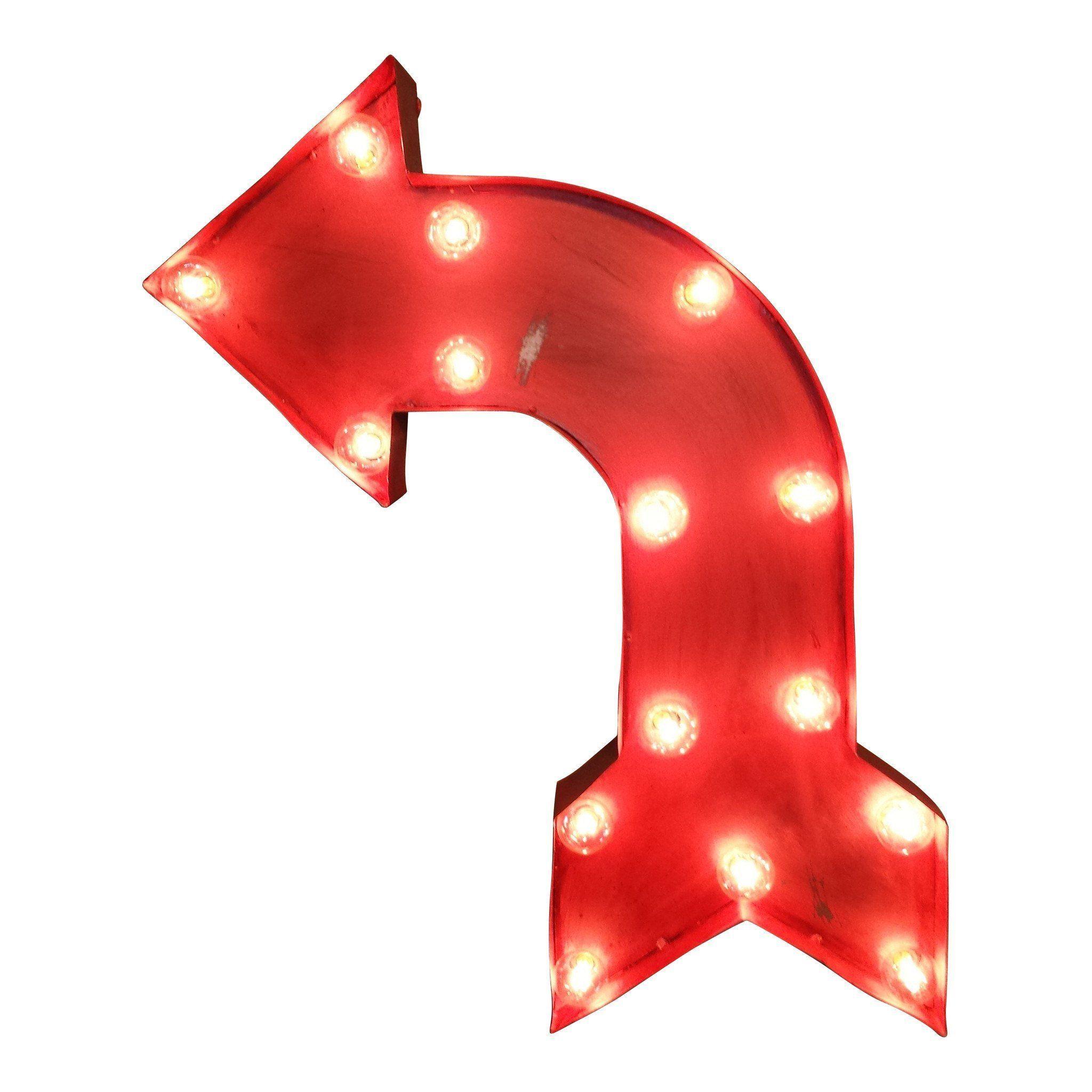 Marquee Symbol Lights - Bent Arrow Symbol Marquee Sign ...