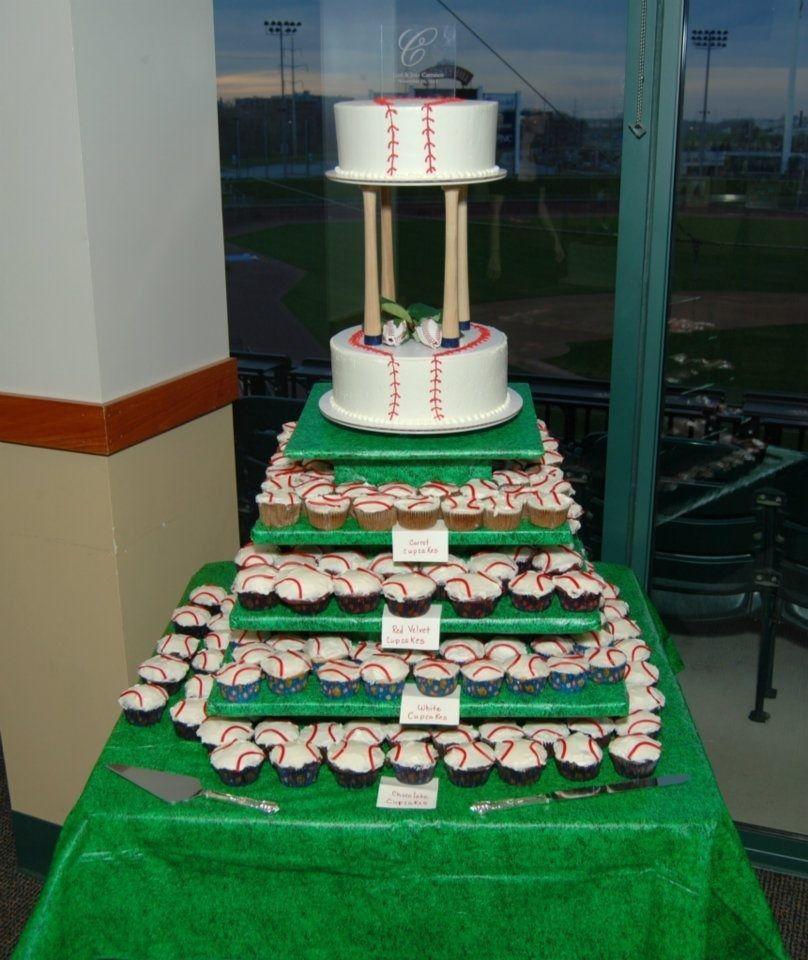 Wedding Cupcake Tier Ideas: This Is My Wedding Cake From My Baseball Themed Wedding