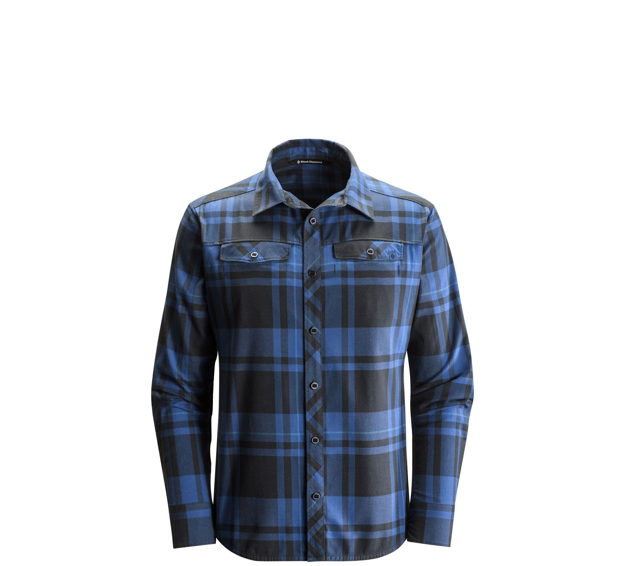 Long sleeve stretch technician shirt black diamond gear gear
