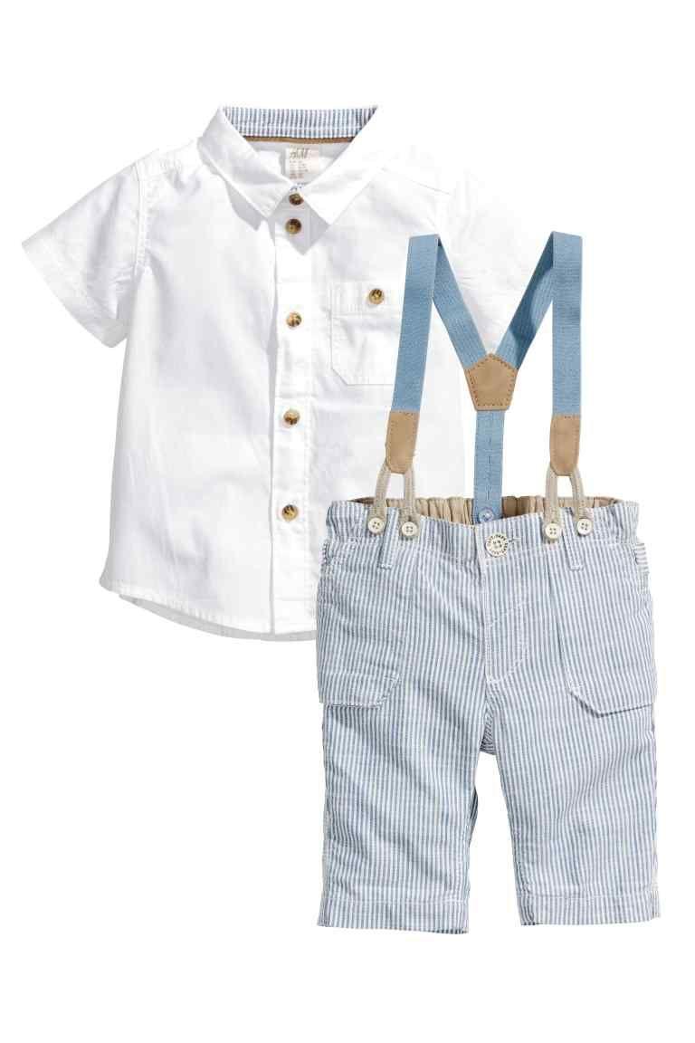 Bébé Enfants Garçons Shirt short mode été Coton Enfant Vêtements Set