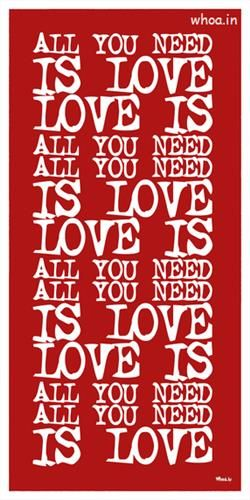 All You Need Is Love Quotes Red Hd Wallpaper Love Quotes Love