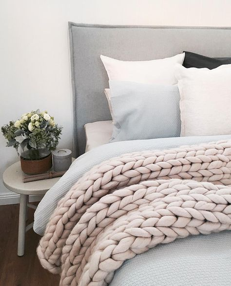 "3,036 Likes, 126 Comments - T H E S T A B L E S (@the_stables_) on Instagram: ""Layers and chunky knits, my guest bedroom is feeling pretty cosy right now!"""