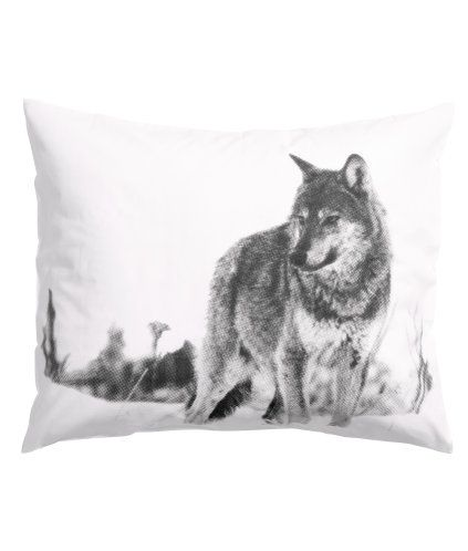 Wolf pillowcase  Home   View all   HM US
