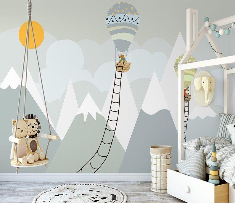 Buccia e bastone tangled bambini 3d murales carta da parati per la decorazione domestica. Bambini Wallpaper Peel E Stick Self Adesivo Grigio Montagna Etsy Carta Da Parati Per Bambini Parete Murale Murale