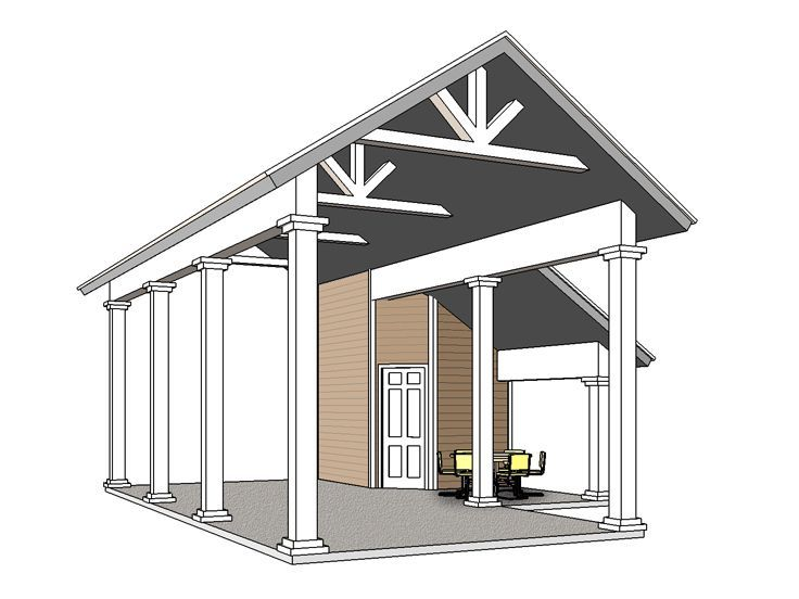 Rv Carport Plan, 006G-0162 | Garden Shed | Pinterest | Rv Carports