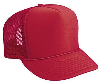 SOLID RED MESH Trucker hat mesh hat - Blank Plain Trucker Hats ... 427085956a3
