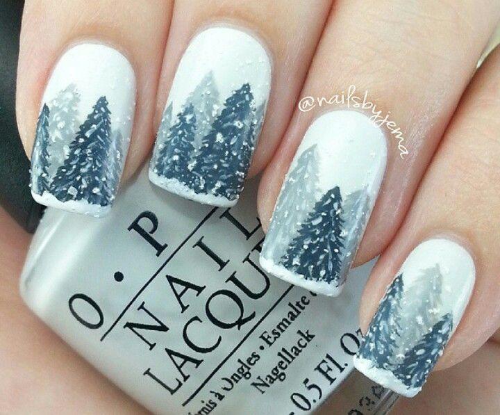 Adorable Winter Y Scene Nails By Nailsbyjema Nail Art