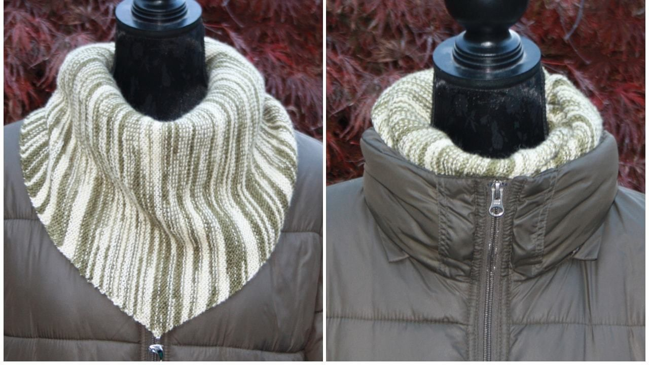 Photo of Knit triangular scarf: a free pattern – Utopia.de
