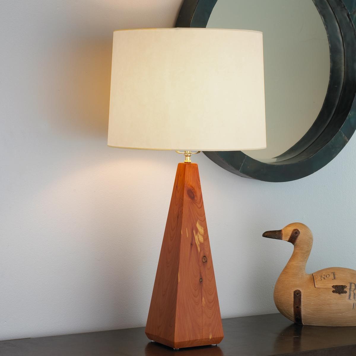 Artisan Wood Square Pyramid Lamp Base 3 Finishes Home Decor Lamp Lamp Bases