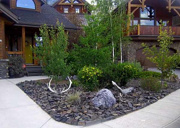 Small Front Yard Landscaping Idea With Almost No Maintenance