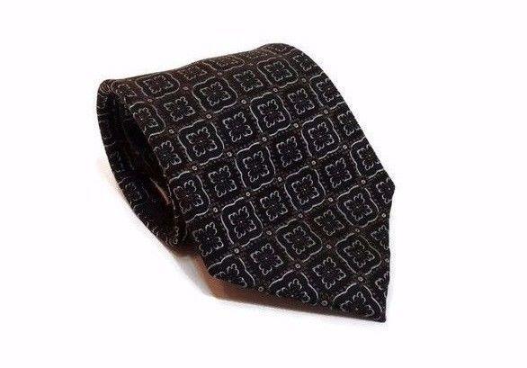 """$14.99 Free Shipping DANIEL CRAIG 100% #Silk #Tie #MensGift 59"""" Brown Black Silver #Necktie #DanielCraig"""