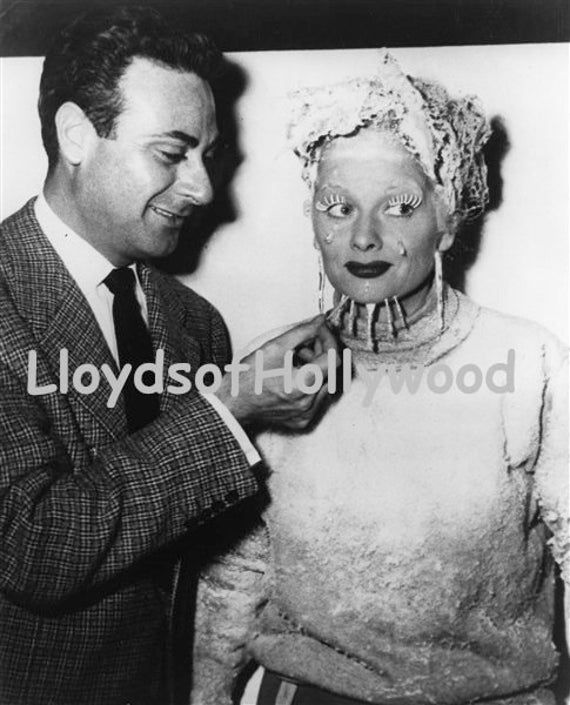 Lucille Ball  With Make up Artist I Love Lucy  The Freezer  Photograph 1952