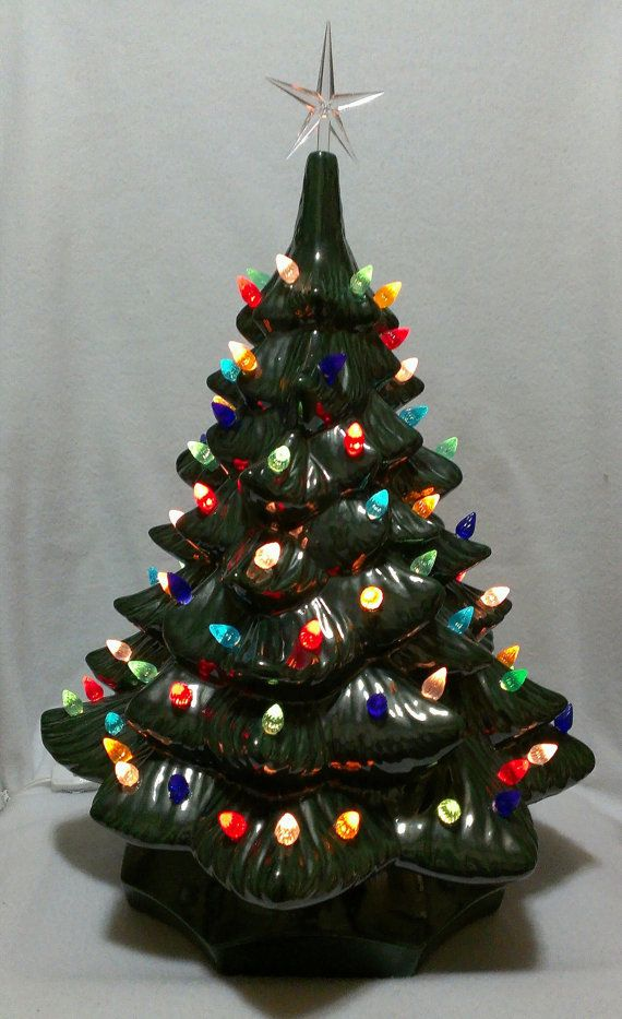 19 Inch Handmade Ceramic Christmas Tree By Artsonfireplano On Etsy 79 98
