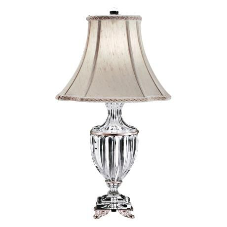 Schonbek Dynasty Antique Silver Finish Crystal Table Lamp 64827 Lamps Plus Crystal Table Lamps Table Lamp Crystal Lamp